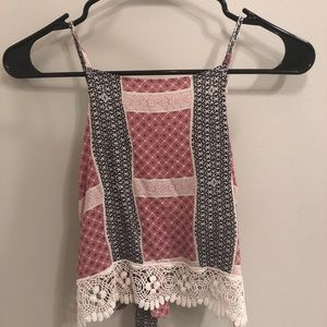 Abercrombie & Fitch Tie Back Crop Top